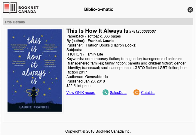 This is How It Always Is  by Laurie Frankel on  Biblio-o-matic