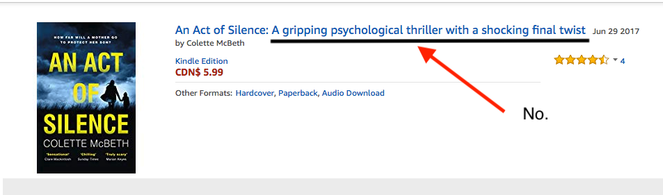 An Act of Silence: A gripping psychological thriller with a shocking final twist  = No.