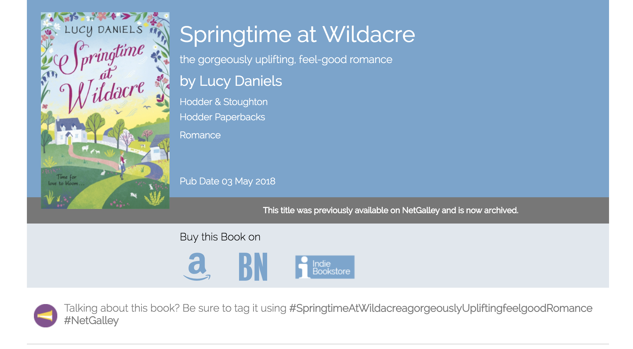 Springtime at Wildacre: the gorgeously uplifting, feel-good romance