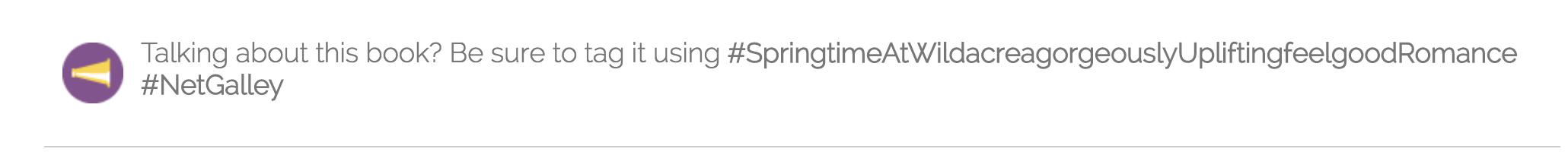 Talking about this book? Be sure to tag it using #SpringtimeAtWildacreagorgeouslyUpliftingfeelgoodRomance #NetGalley