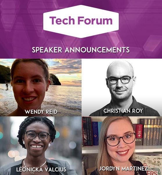 Image of Tech Forum speakers head shots.
