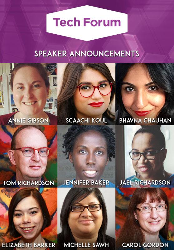 Photos of Tech Forum speakers.