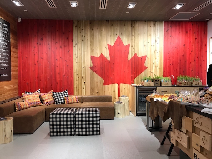 Photo of the Roots Cabin store and showroom at Toronto's Yorkdale mall.