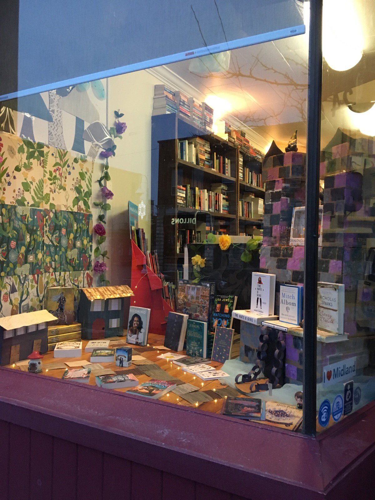 Photo of a window display at Georgian Bay Books.