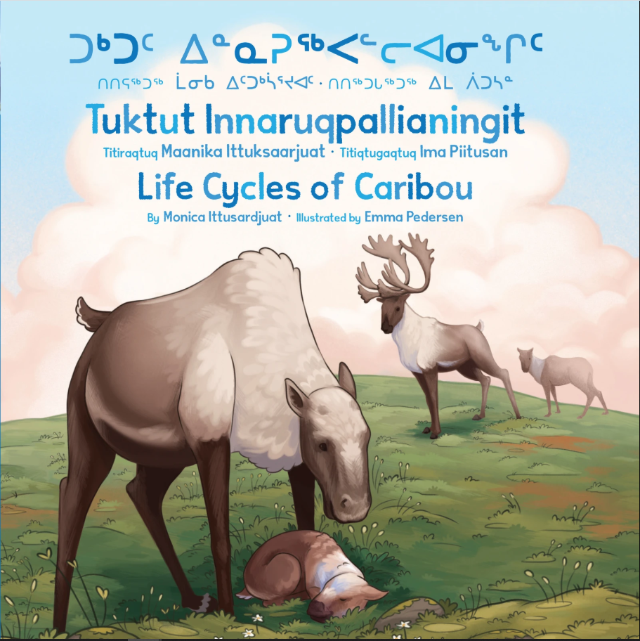 Cover of Inuktitut book Life Cycles of Caribou