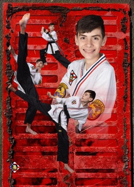 Mr. Rodriguez - Mr. Rodriguez is a second Degree Black Belt who has shown awesome integrity and self control!