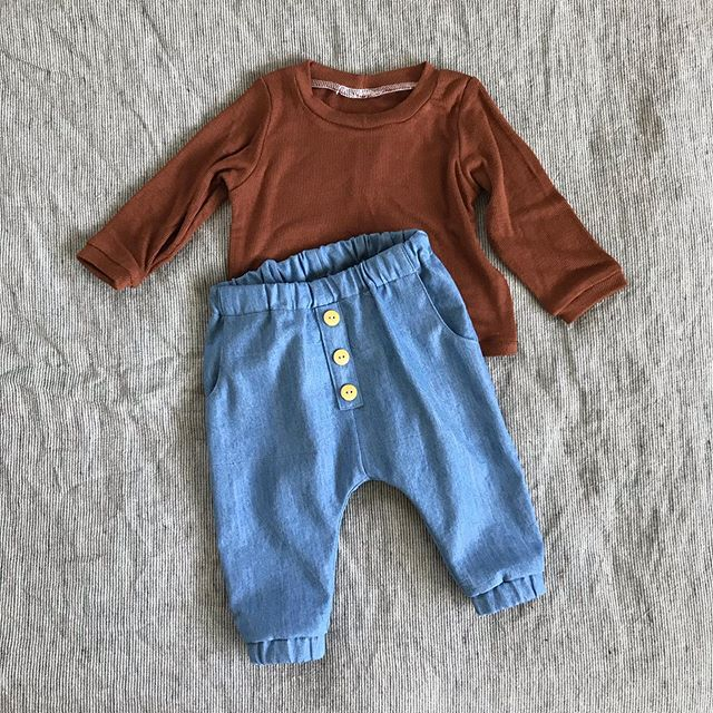 Made by mama 🥰 had to share one more shot of these little garments bc I added the buttons ✨