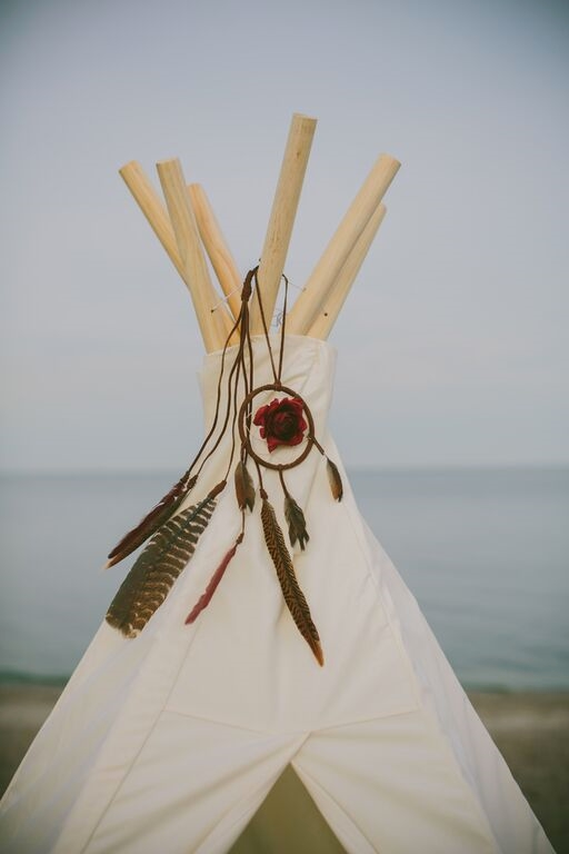 What a romantic teepee setup.