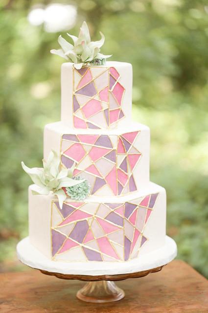 Geometrical Wedding Cake
