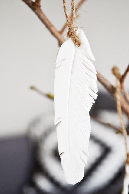 White Single Feather