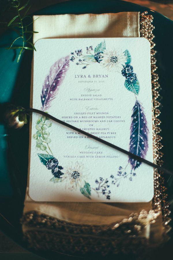 Bohemian Wedding Invites