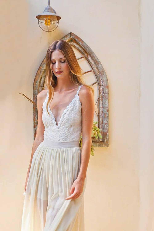 2 piece lace wedding dress