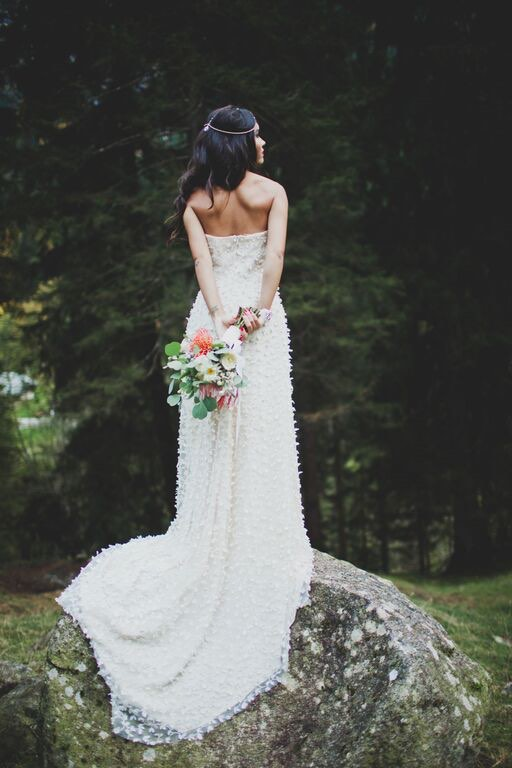Boho Wedding in the Alps bride back.jpg