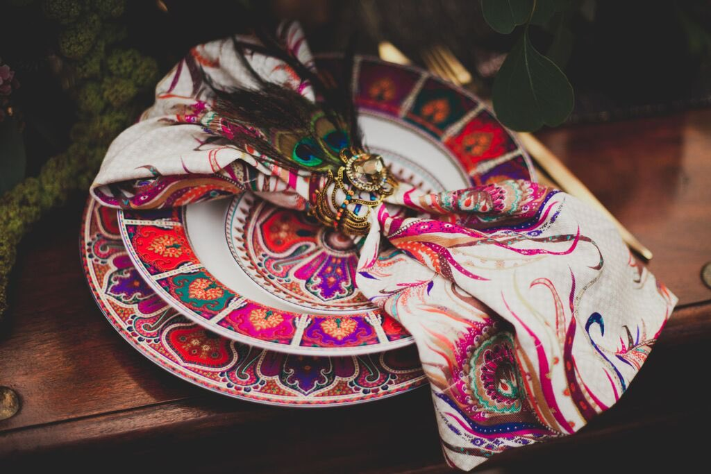 Boho Wedding in the Alps table setting.jpg