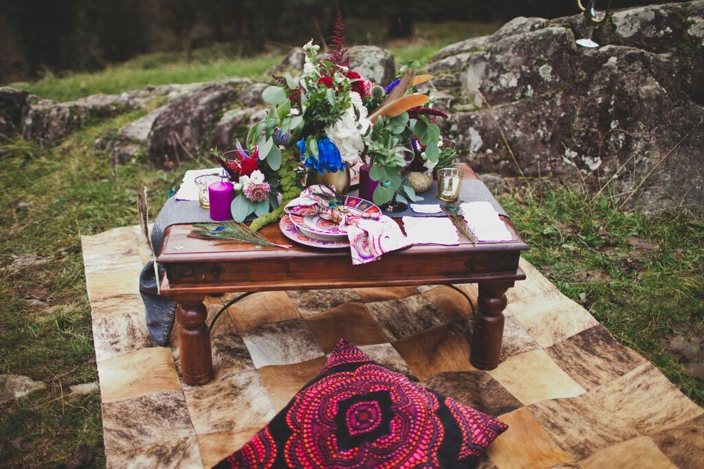 Boho Wedding in the Alps table setup 5.jpg