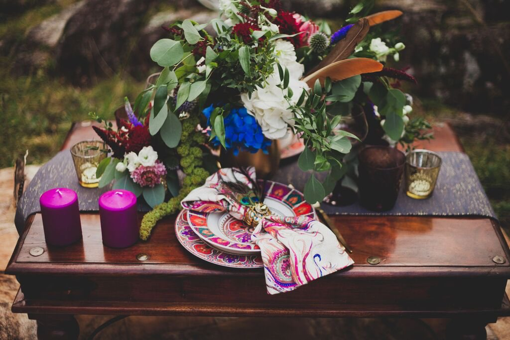 Boho Wedding in the Alps table setup 2.jpg
