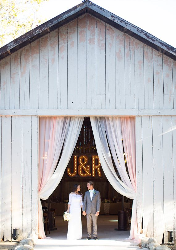 Marquee Letters in Barn