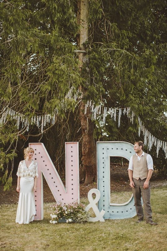 Pastel Marquee Letters