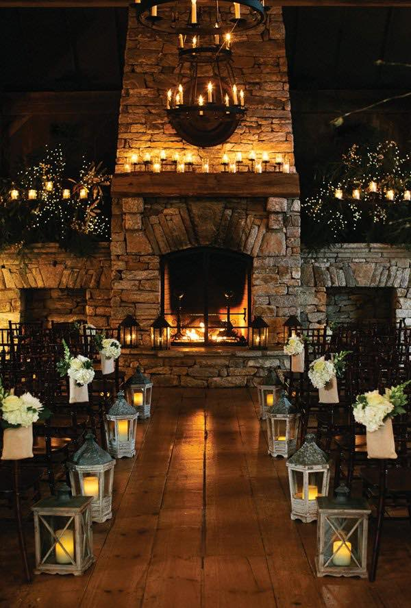 Winter Wedding Lanterns