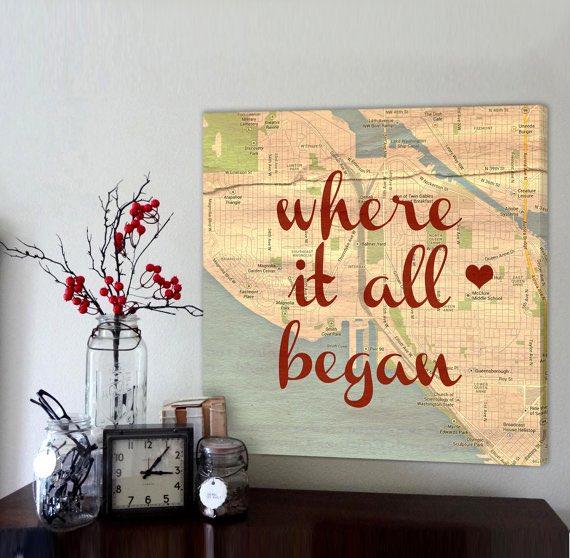 Map Love Art
