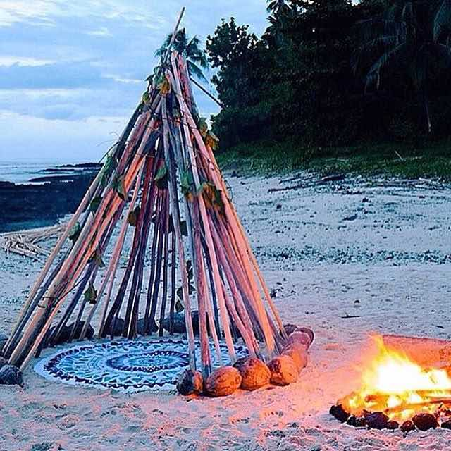 Tee Pee on Beach