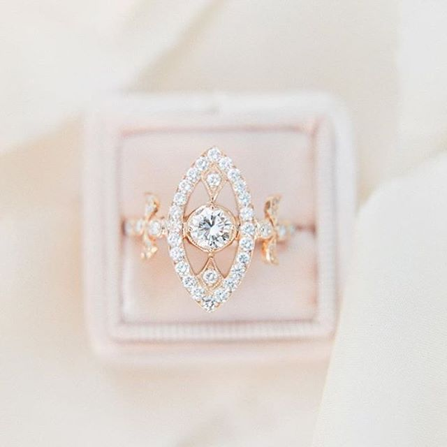Unique Rose Gold Diamond Engagement Ring