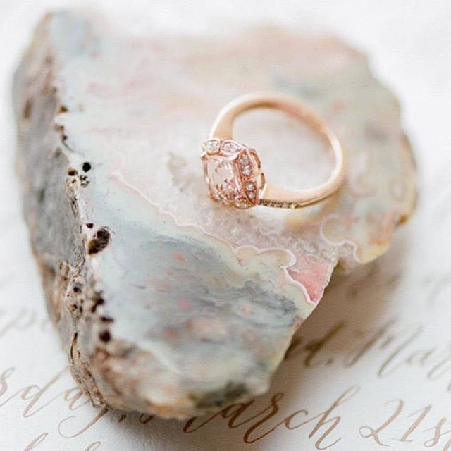 Rose Gold Engagement Ring Style Photo