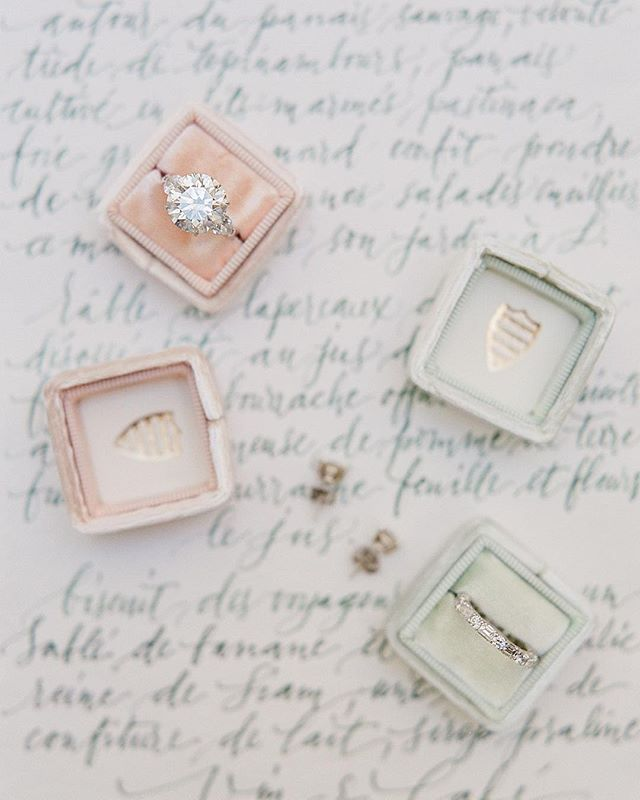 Pretty Engagement Ring and Engagement Boxes