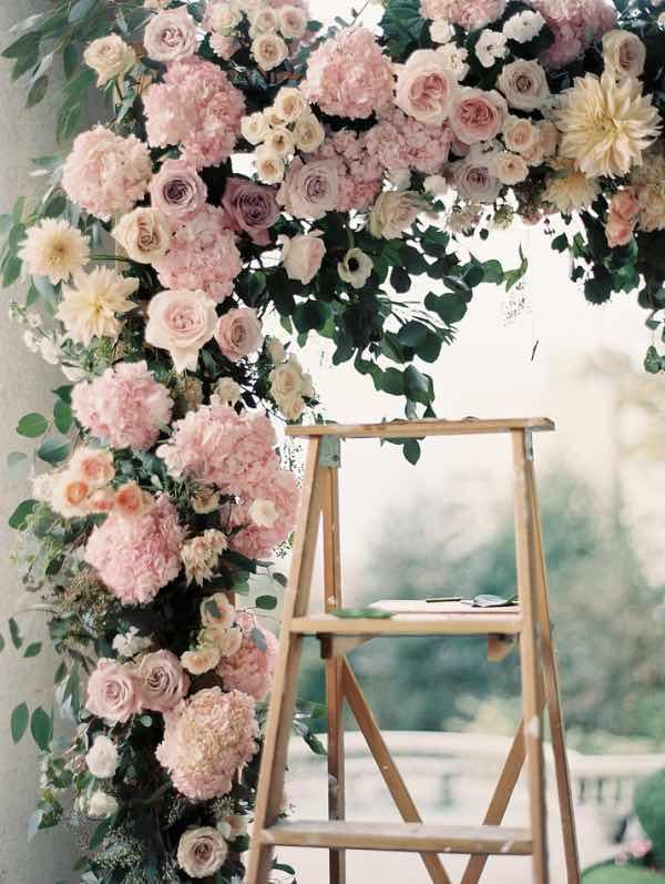 Pink Flowers Wedding Arch
