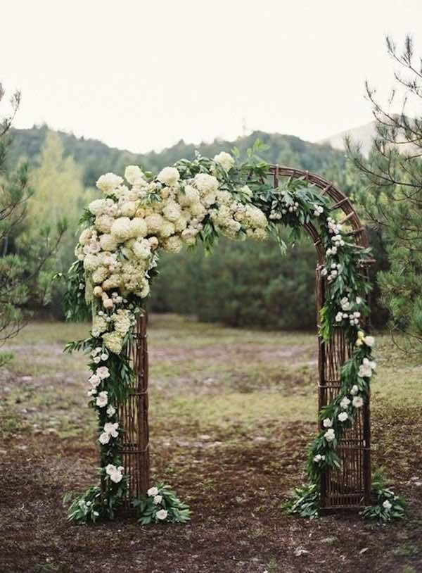 Wedding Arch with Flowers and Greenery
