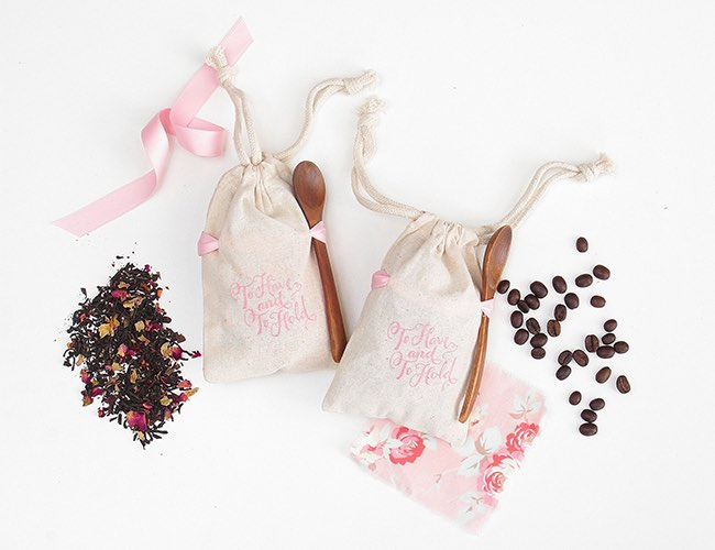 Coffee and Tea Wedding Favors
