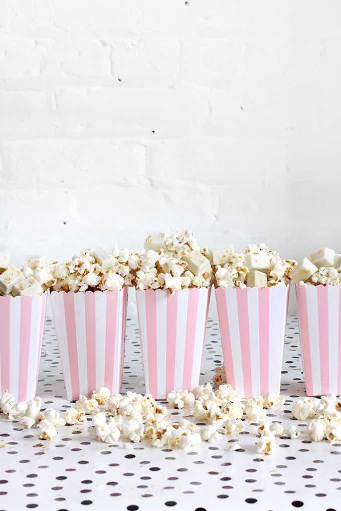 White Chocolate Popcorn Wedding Favor