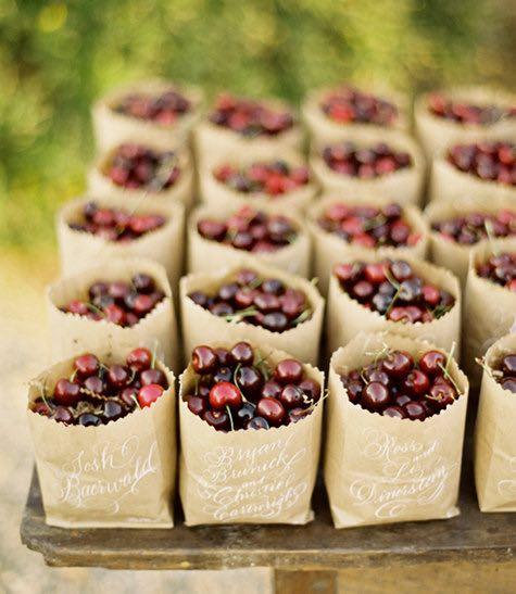 Cherries in Kraft Bags