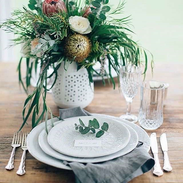 Spring Floral Table Setting
