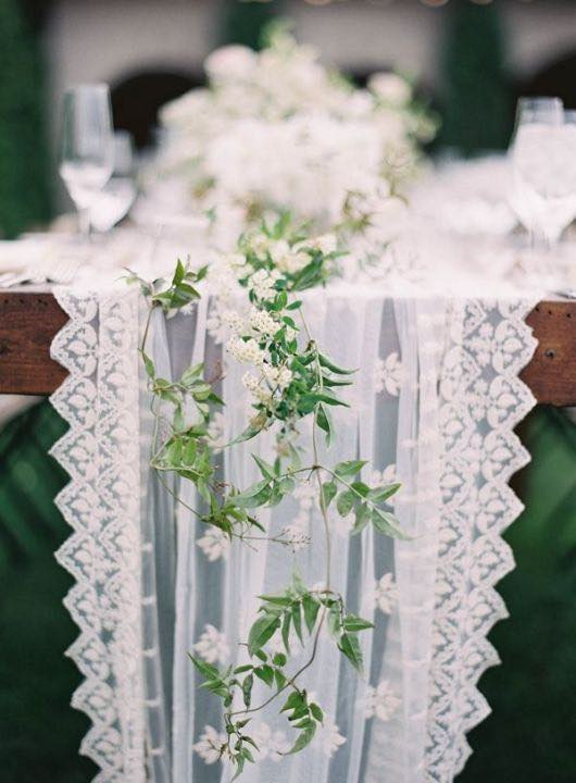 Botanical Tablescape with Lace