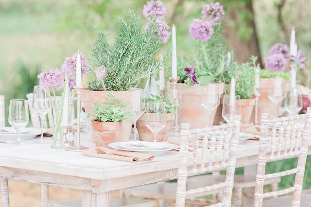 Lavender Spring Table Setting