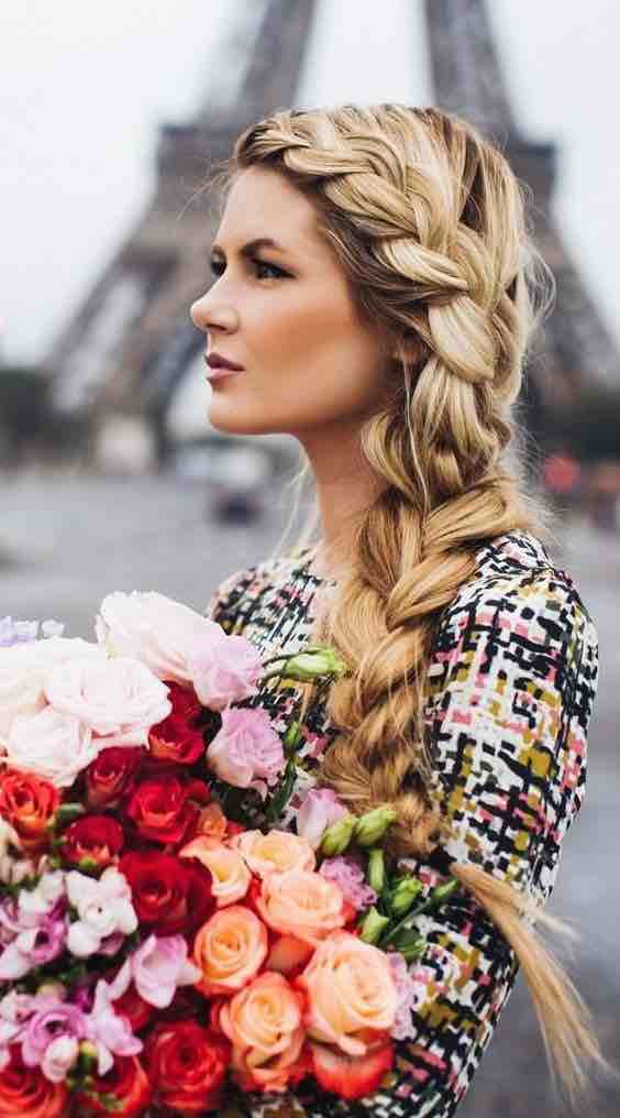 Large Loose Side Braid