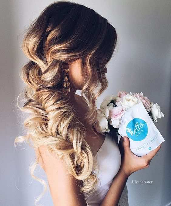 Soft and Messy Bridal Braid