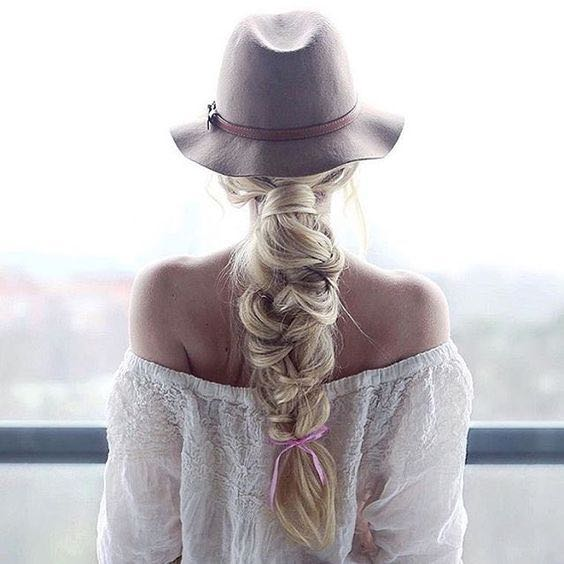 Loose Bridal Braid Ponytail