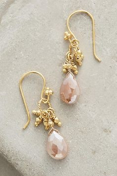 Pink And Gold Earings