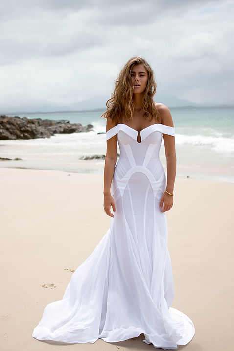 Georgia Young Couture White Dress Full