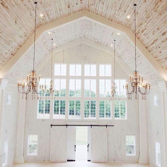 White Sparrow Barn Interior