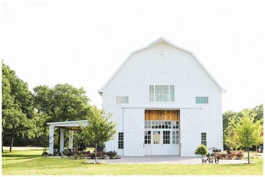 The White Wedding Sparrow Barn Exterior