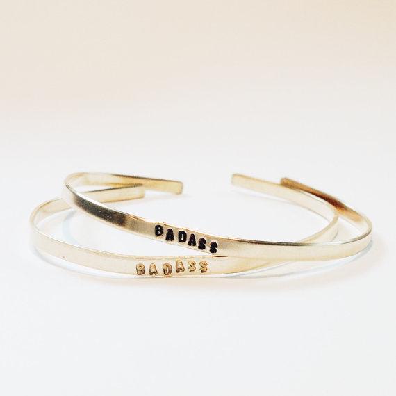 Stamped Badass Bracelet