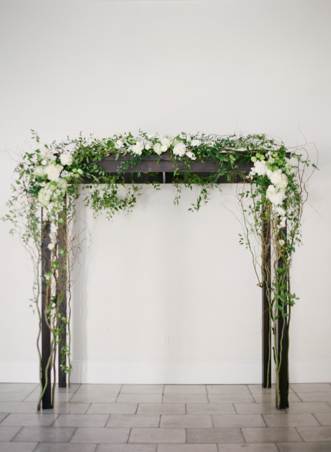 Greenery Arch with White Flowers