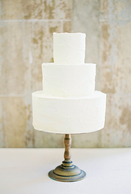 White Wedding Cake with Three Tiers