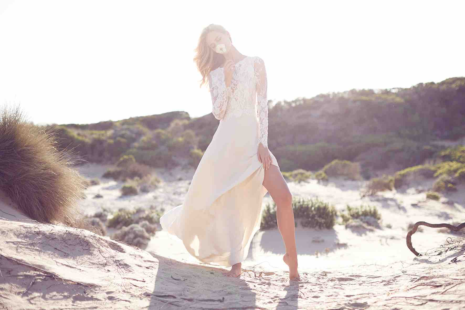 Lost in Love Photography - Wedding Dress with Deep Side Slit