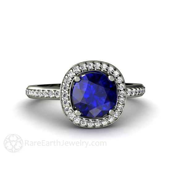 Rare Earth Sapphire Engagement Ring