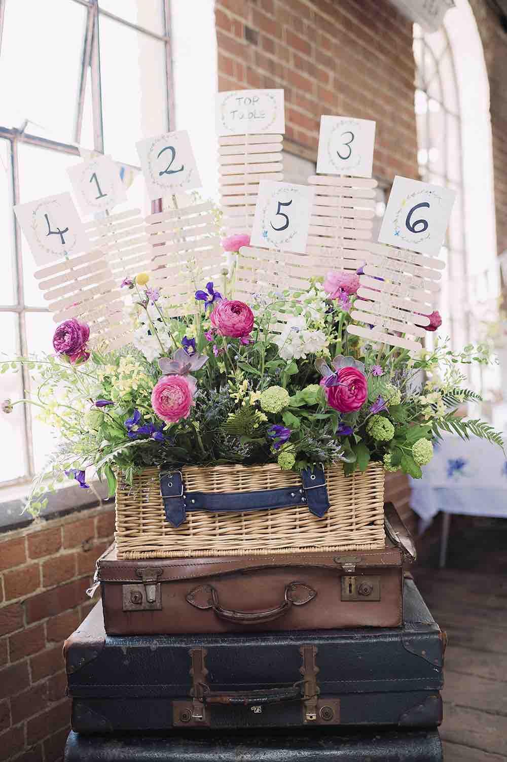 Suitcase Planter Table Plan Display