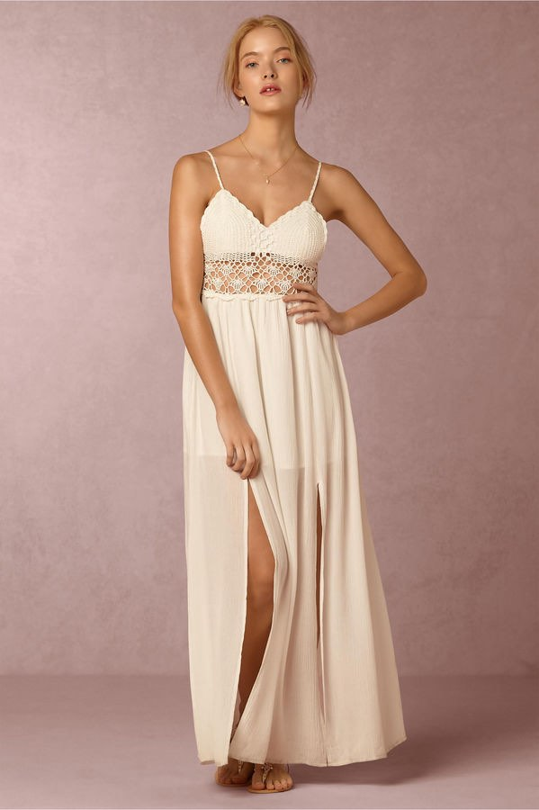 BHLDN Maxi with Crochet